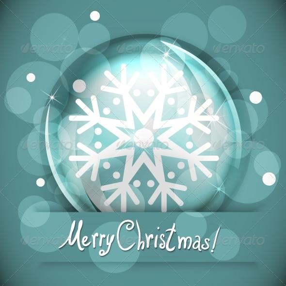 GraphicRiver Christmas Snow Globe with Snowflake 5365516