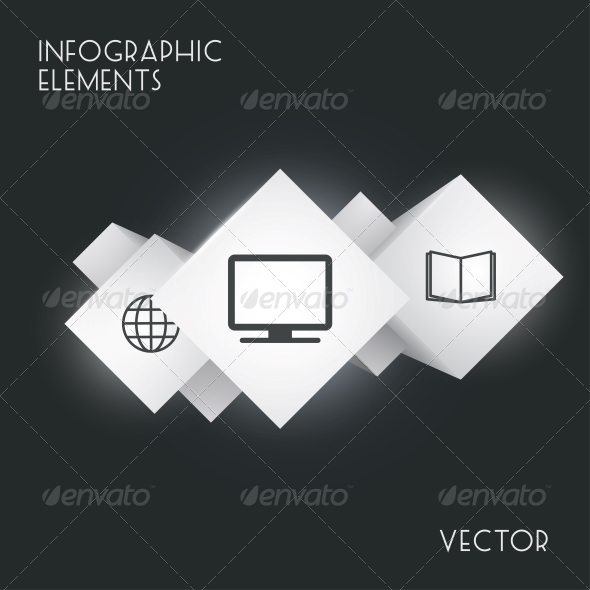GraphicRiver Cube Infographics 5365555