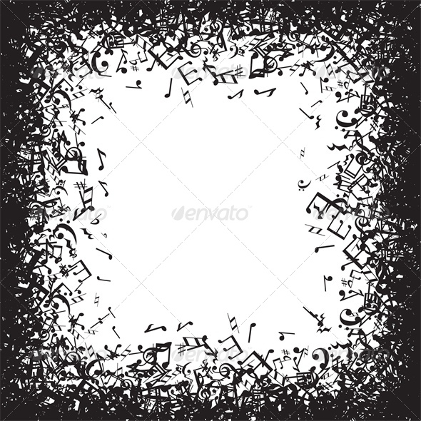 GraphicRiver Background with Music Notes Frame 5365588