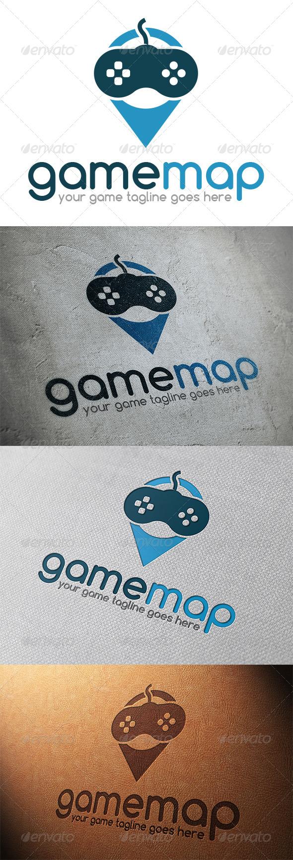 GraphicRiver Game Locator Logo Template 5365600