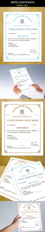 GraphicRiver Birth Certificate 5319624
