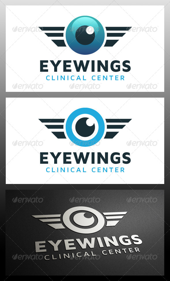 GraphicRiver Eye Wings Logo Template 5366228