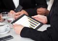 Businessperson Holding Digital Tablet