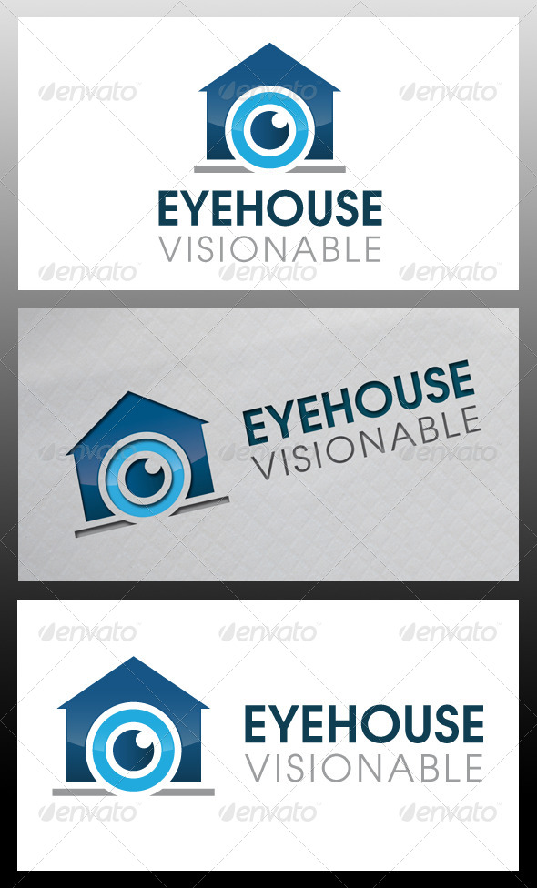 GraphicRiver Eye House Logo Template 5366764