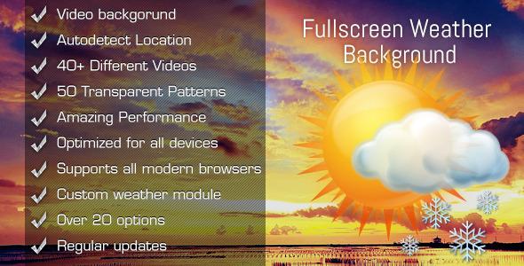 CodeCanyon Fullscreen Weather Background Video 5367003