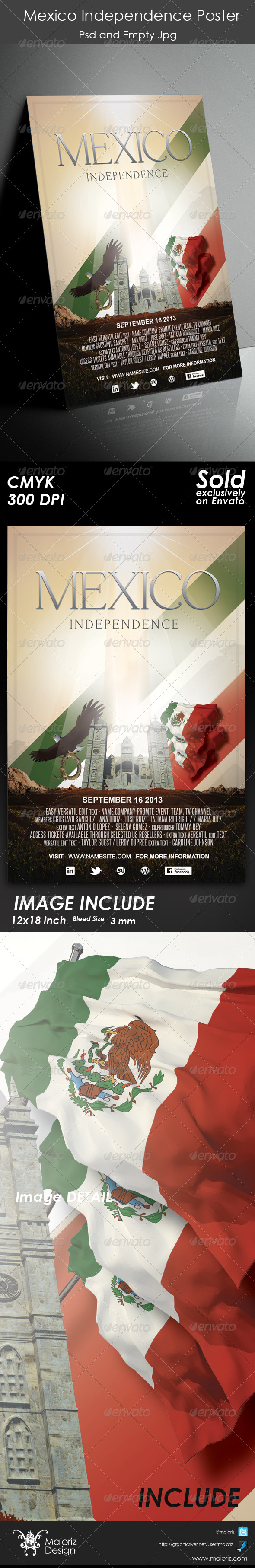 GraphicRiver Mexico Independence Poster 5367073