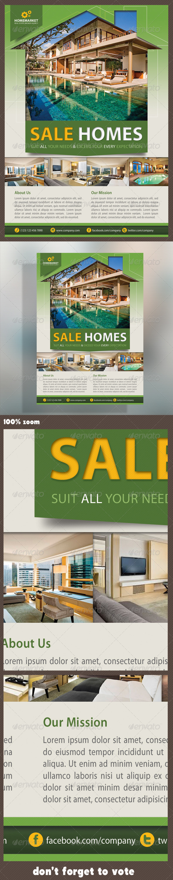 GraphicRiver Real Estate Corporate Flyer 5268557