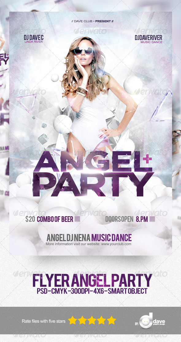 Flyer Angel Party - Clubs & Parties Events