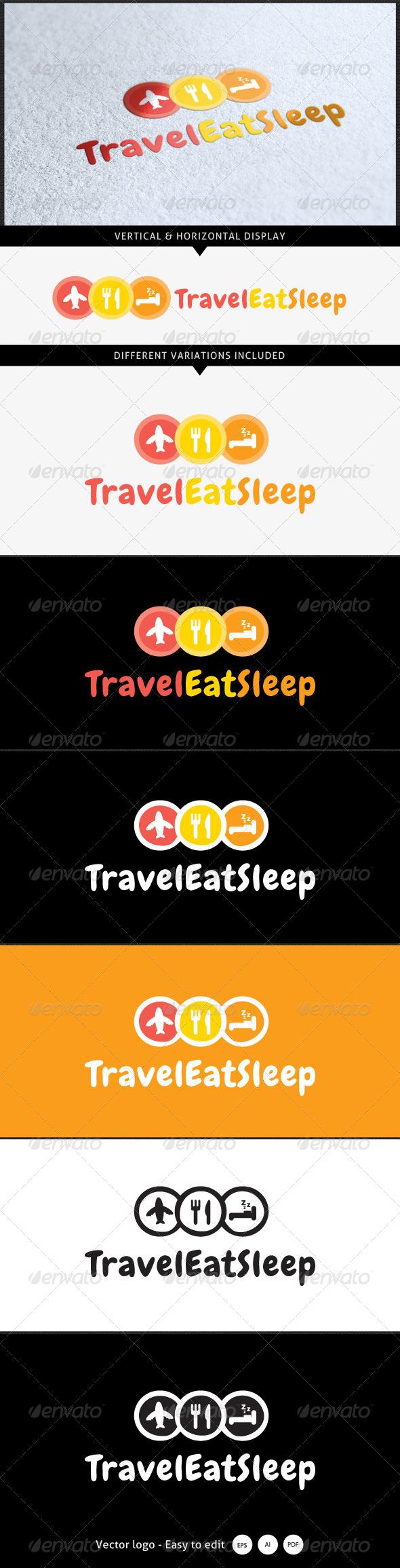 GraphicRiver Travel Eat Sleep Logo 5367858