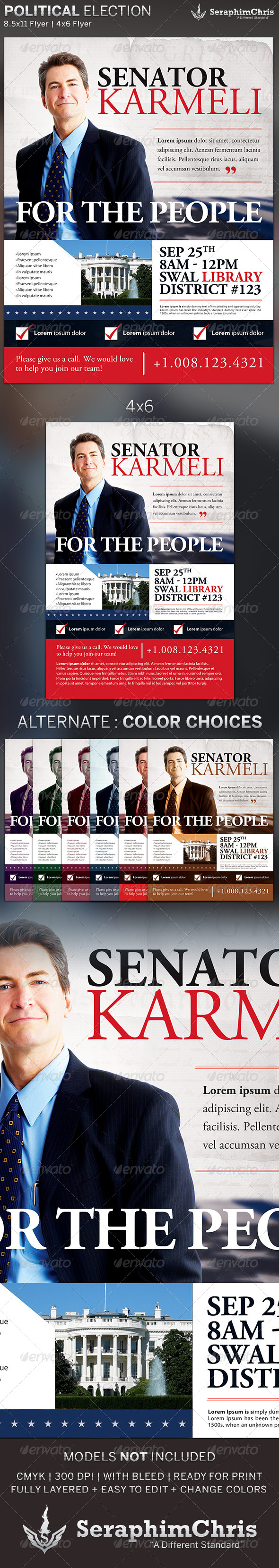 GraphicRiver Political Election Flyer Template 5367879