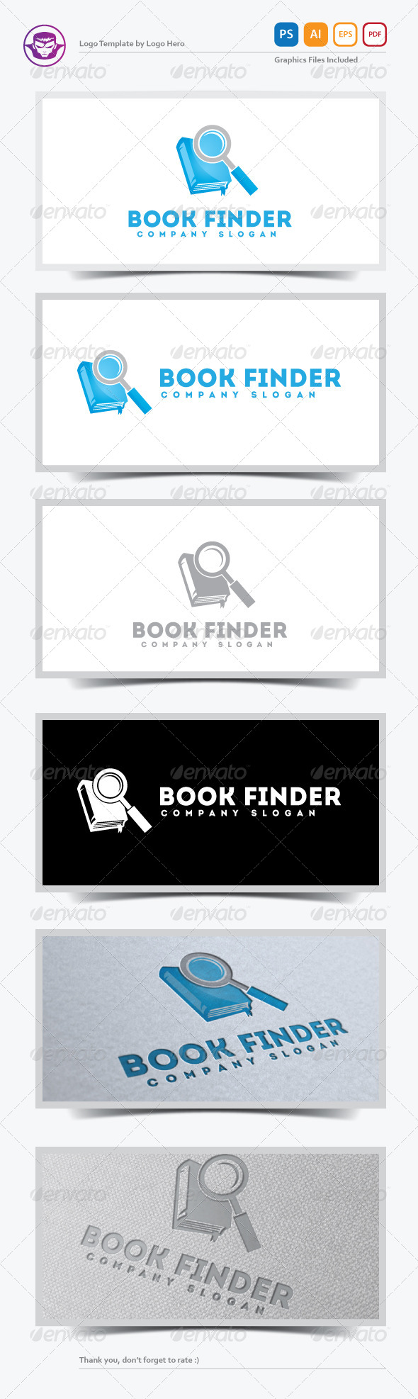 Book Finder Logo Template