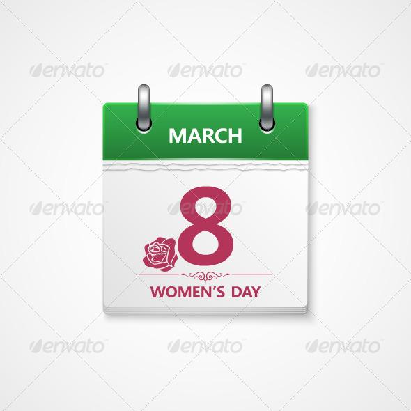 GraphicRiver 8 March Calendar 5369960
