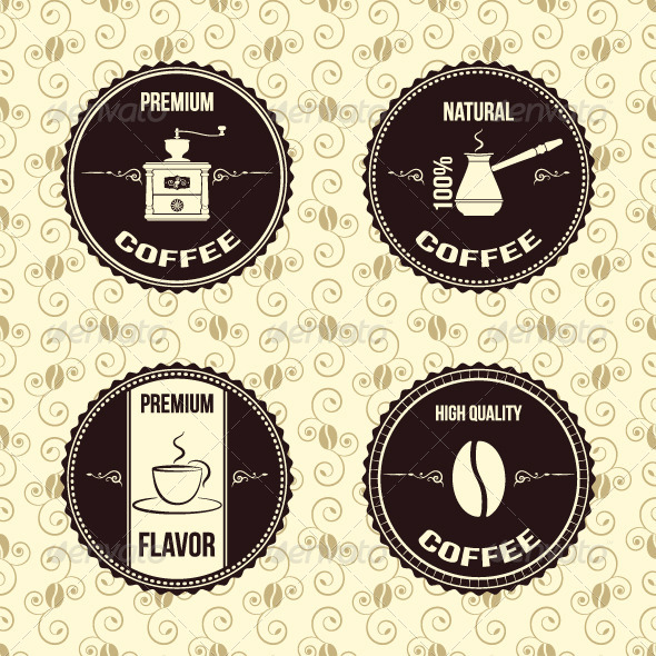 GraphicRiver Coffee Vintage Labels 5369964