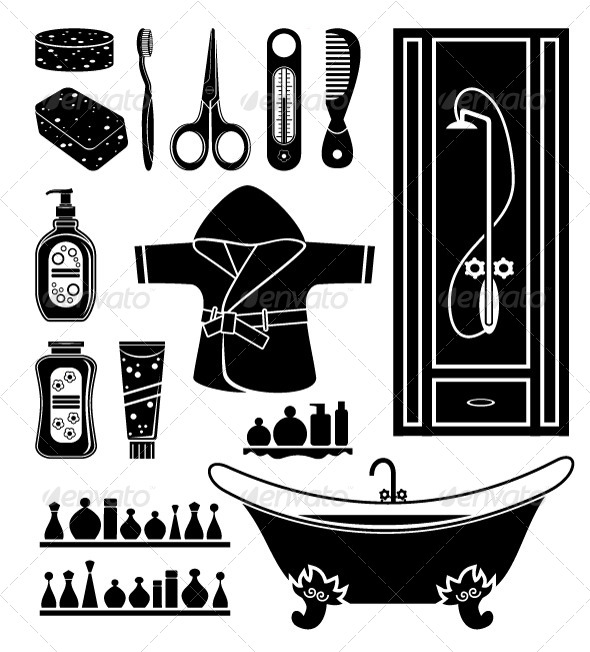 GraphicRiver Set of Things for Bathing 5370320