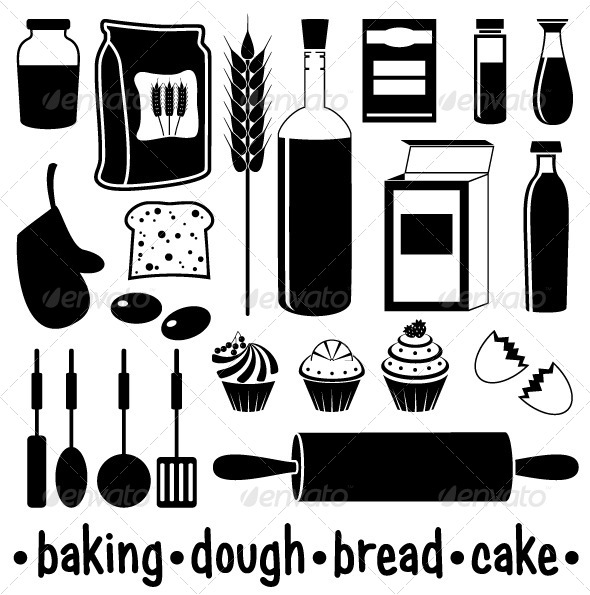 GraphicRiver Set of Products for Baking 5370418