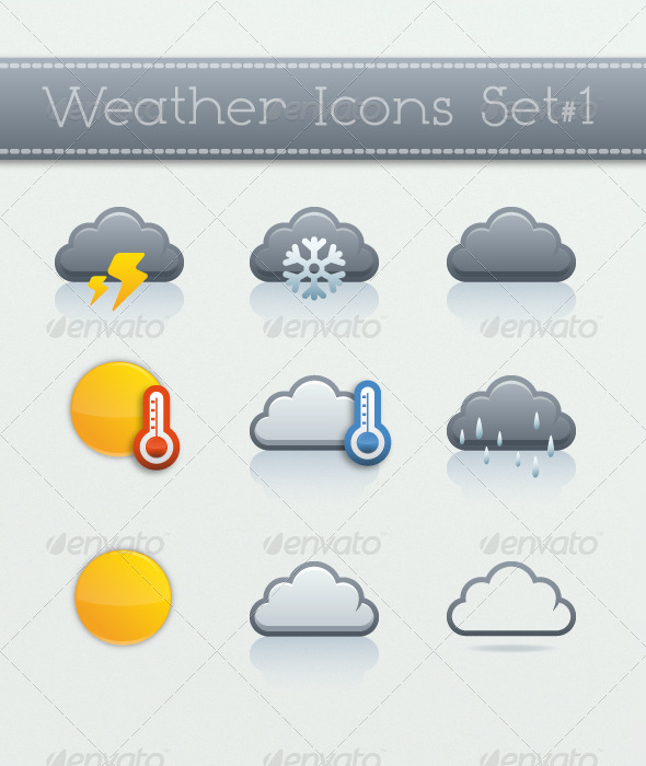 GraphicRiver Weather Icons Set 1 5370909