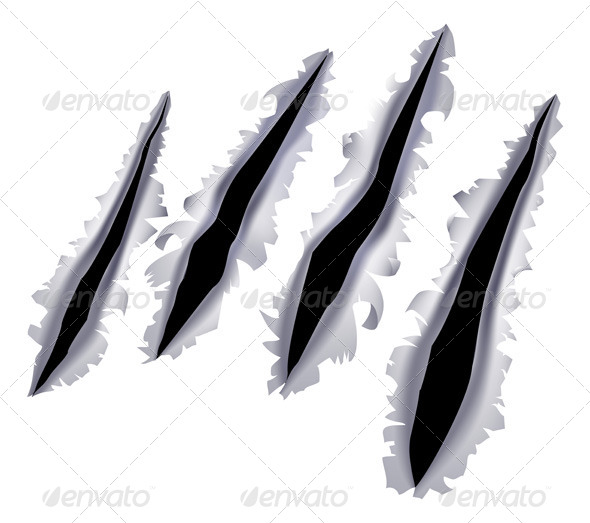 GraphicRiver Monster Claw Scratch Hole 5370920