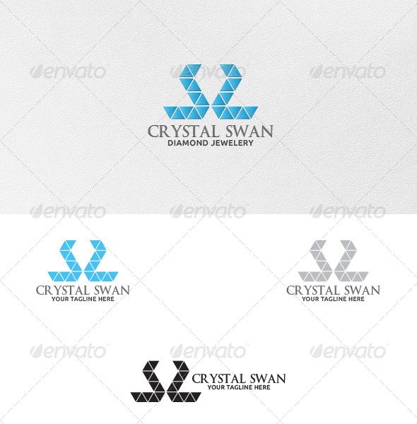 GraphicRiver Crystal Swan Logo Template 5370927