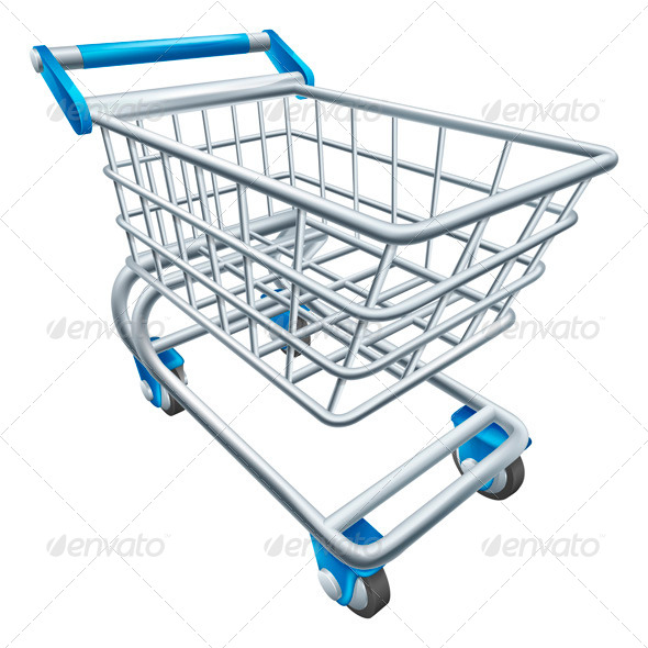 GraphicRiver Supermarket Shopping Cart Trolley 5370964