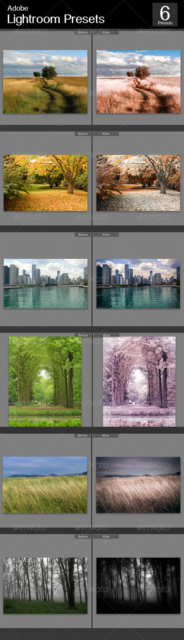 GraphicRiver 6 Lightroom Color Effect 5371121