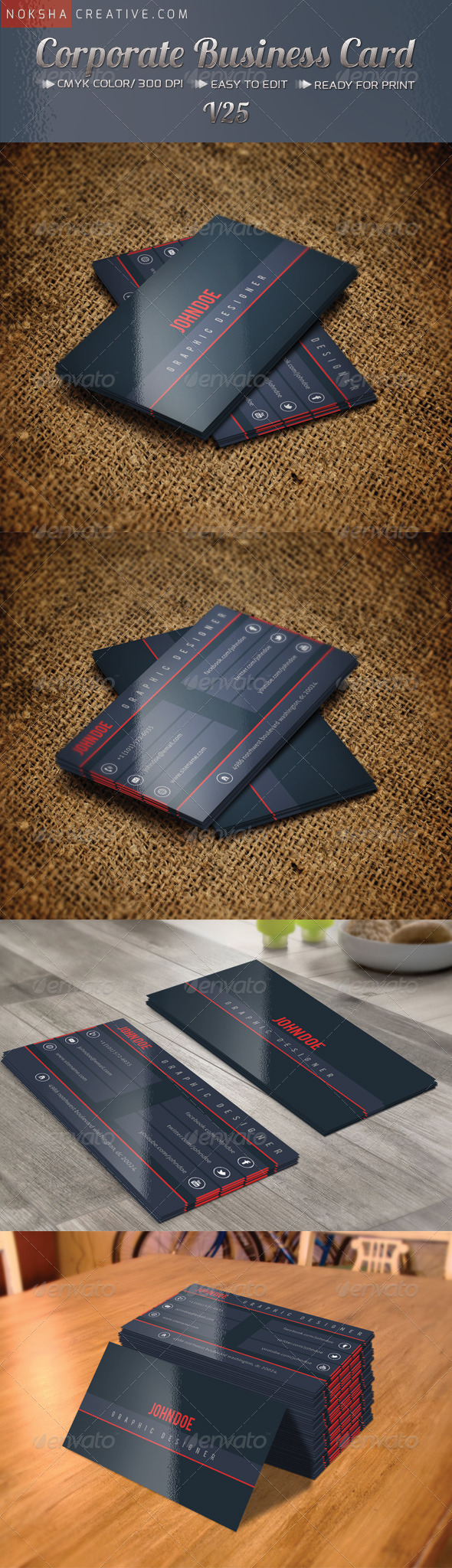 GraphicRiver Corporate Business Card V-25 5371205