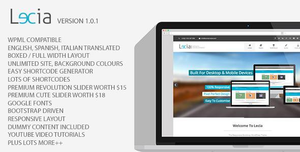 ThemeForest Lecia The Responsive Bootstrap WordPress Theme 5319244