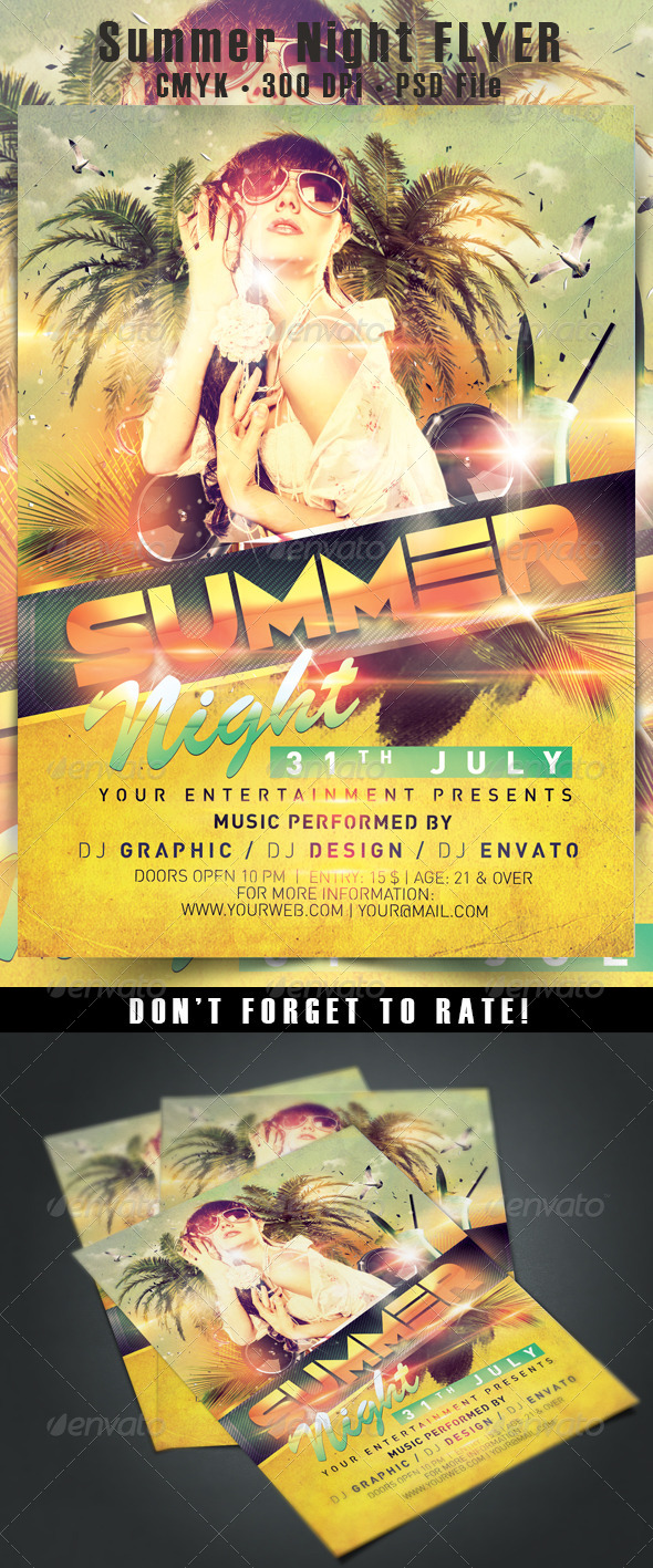 Summer Night Flyer - Events Flyers