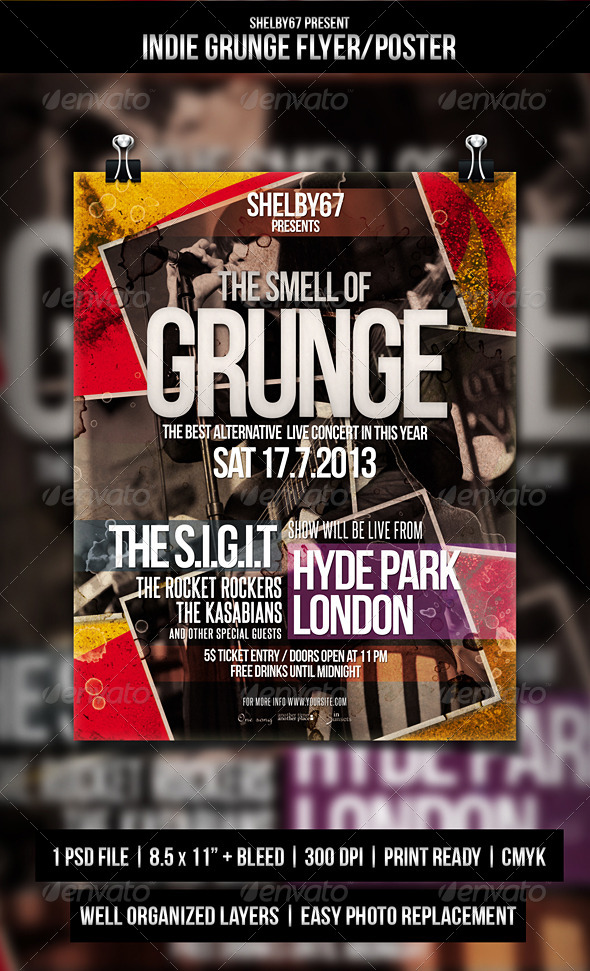GraphicRiver Indie Grunge Flyer Poster 5371365
