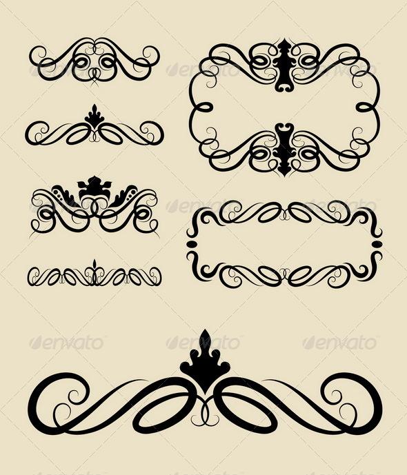 GraphicRiver Curl Ornament Decorations 5371474
