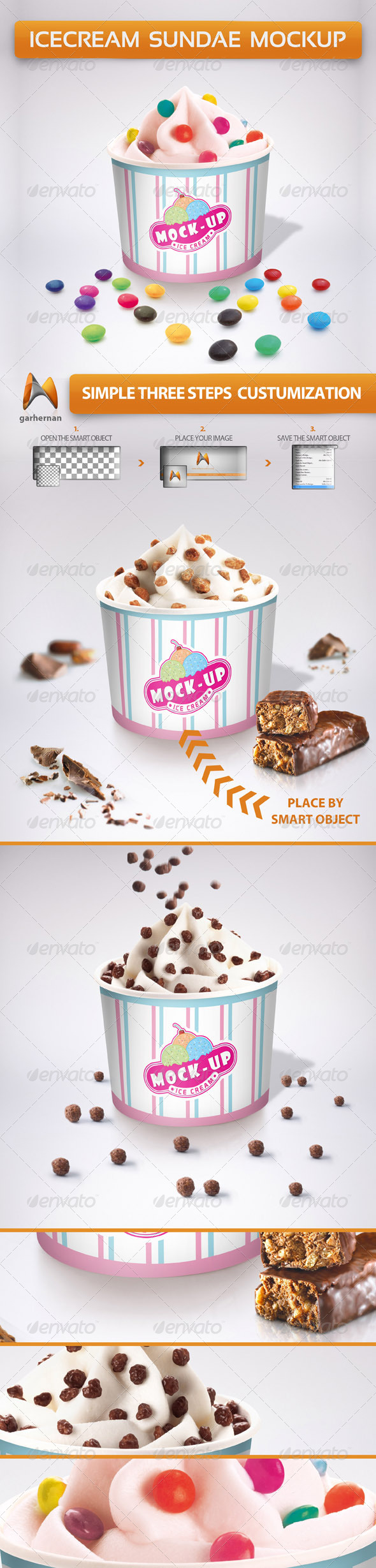 GraphicRiver Ice Cream Sundae Mockup 5371811