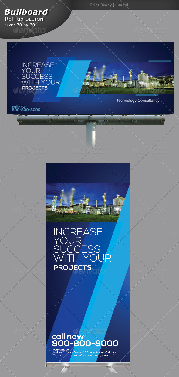 Industrial Billboard and Roll-up Banner
