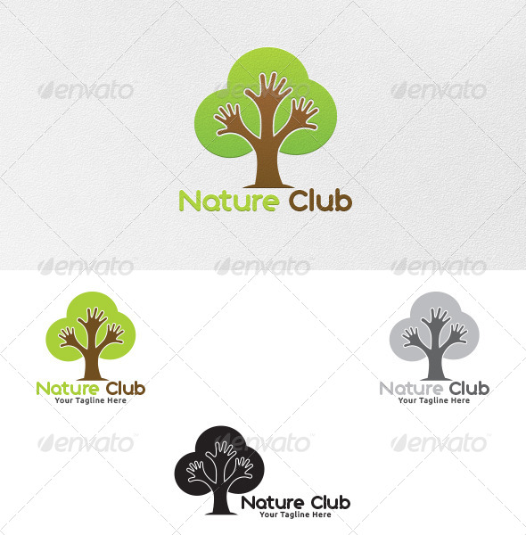 GraphicRiver Nature Club Logo Template 5372076
