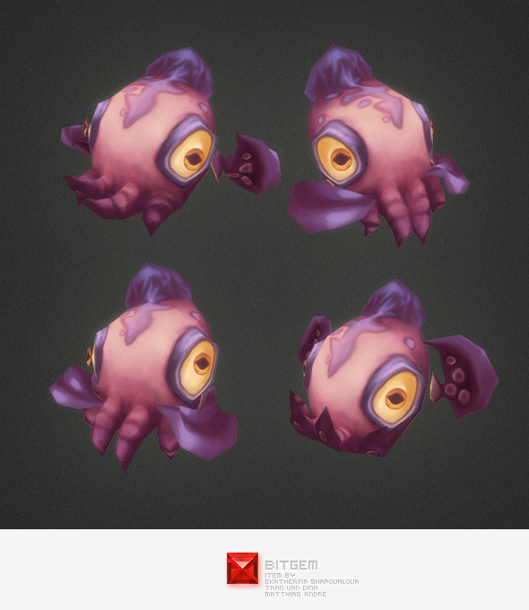 3DOcean Low Poly Micro Squid Dave 5372111