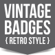 Vintage Badges (retro style) - GraphicRiver Item for Sale