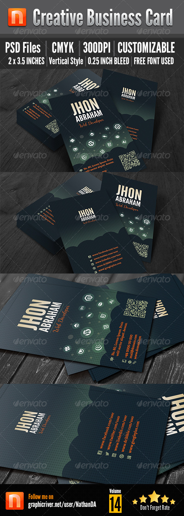 GraphicRiver Corporate Business Card V14 5372265