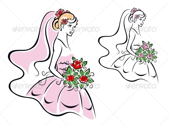 Woman in Bridal Dress - Weddings Seasons/Holidays