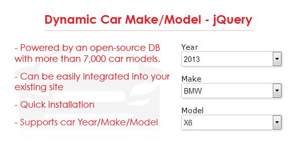 CodeCanyon Dynamic Car Make Model jQuery 5372342