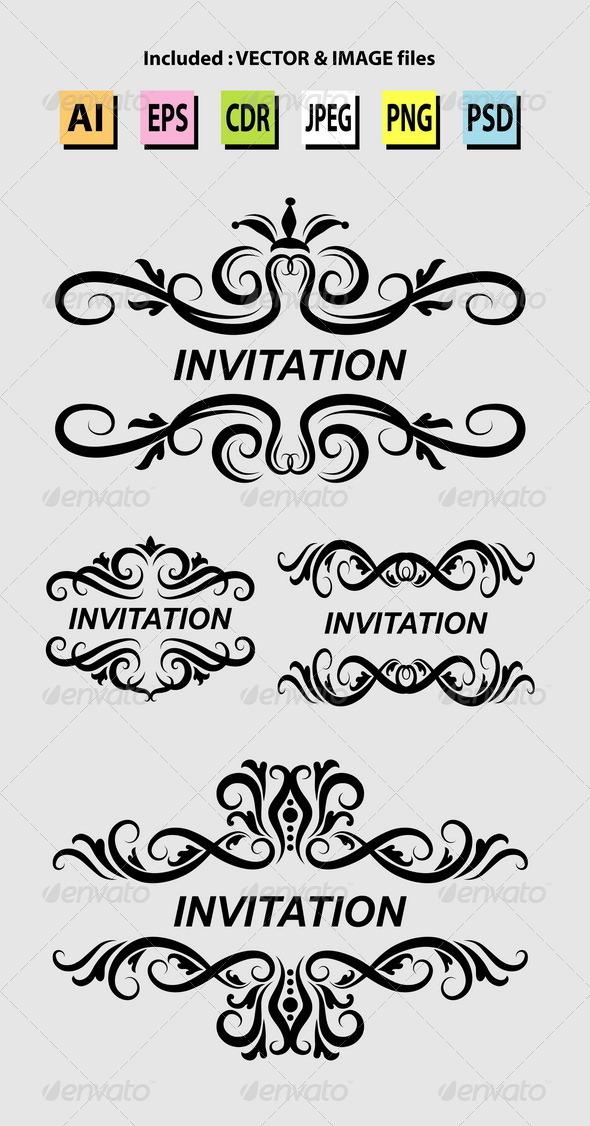 GraphicRiver Invitation Ornament Decorations 5372355