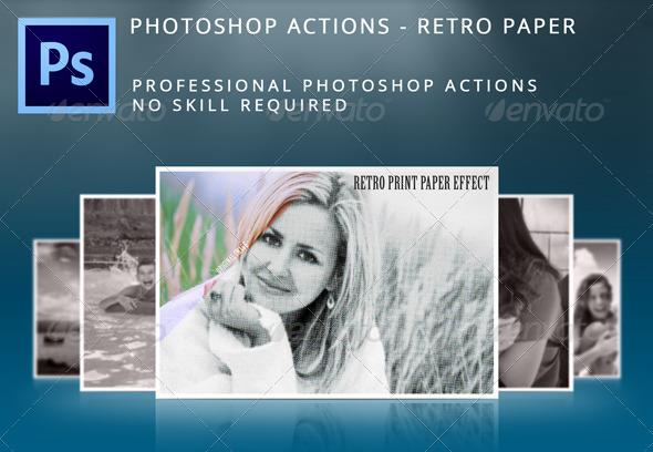 GraphicRiver Retro Paper Effects 5372658