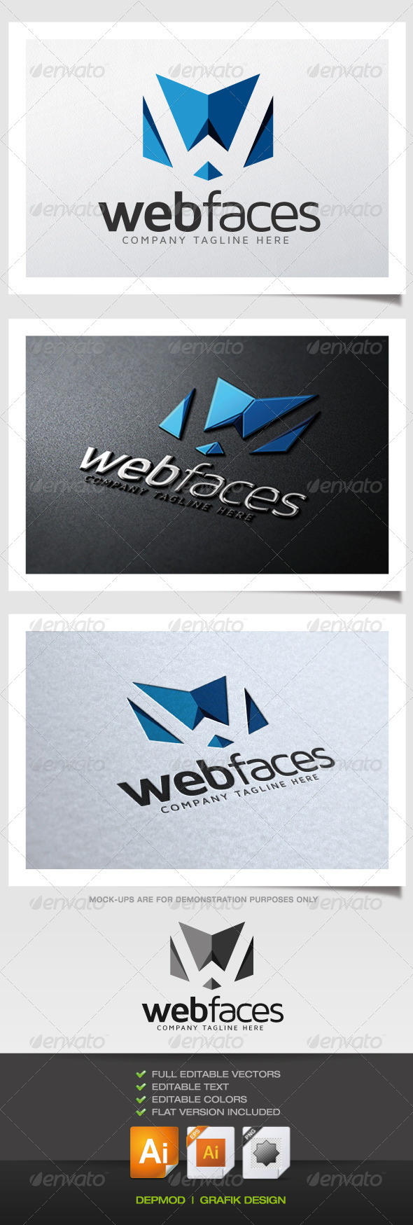 GraphicRiver Web Faces Logo 5372680