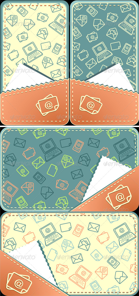 GraphicRiver Set Seamless Pattern of Email 5372711