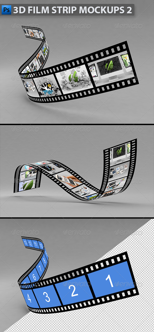 GraphicRiver 3D Film Strip Mock-ups 2 5333479