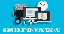 Design element sets for professional video editor and motion graphics artists