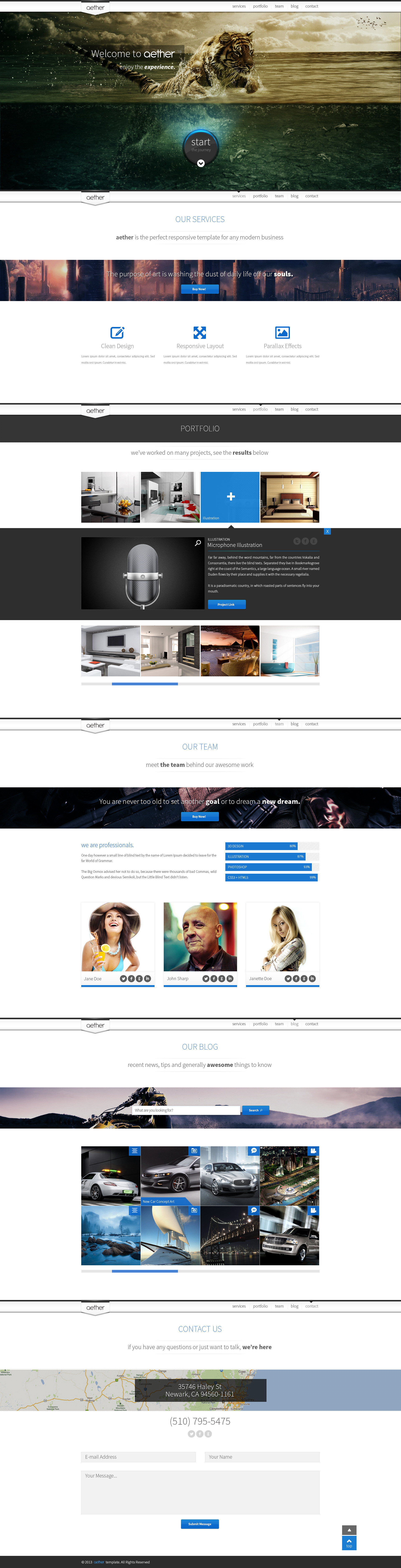 Aether - Unique One-Page Multipurpose Template