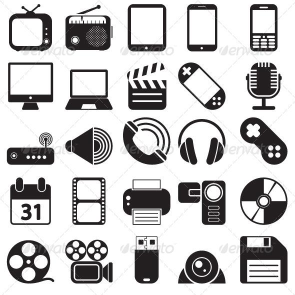 GraphicRiver Media Icons Set 5372739