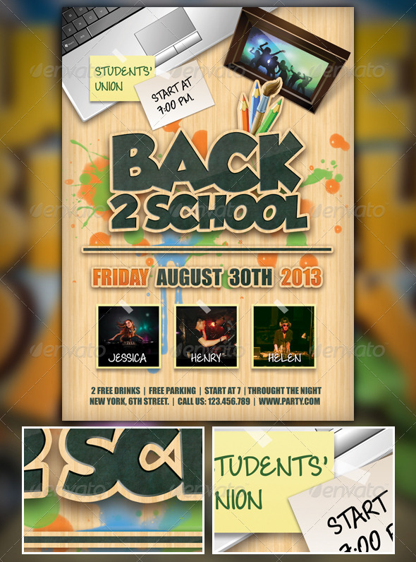 GraphicRiver Back to School Flyer 5372744