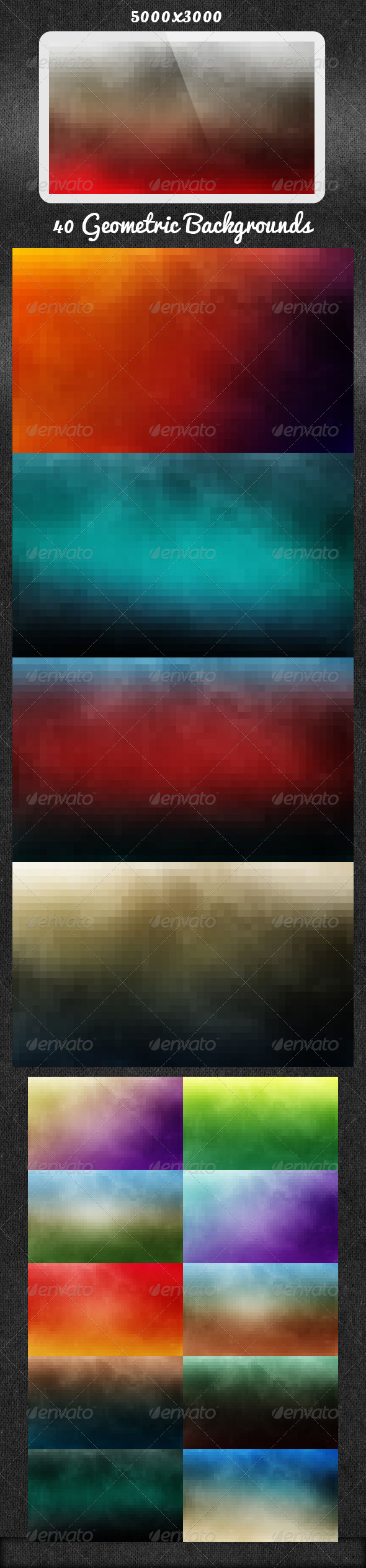 GraphicRiver 40 Geometric Backgrounds 5372875