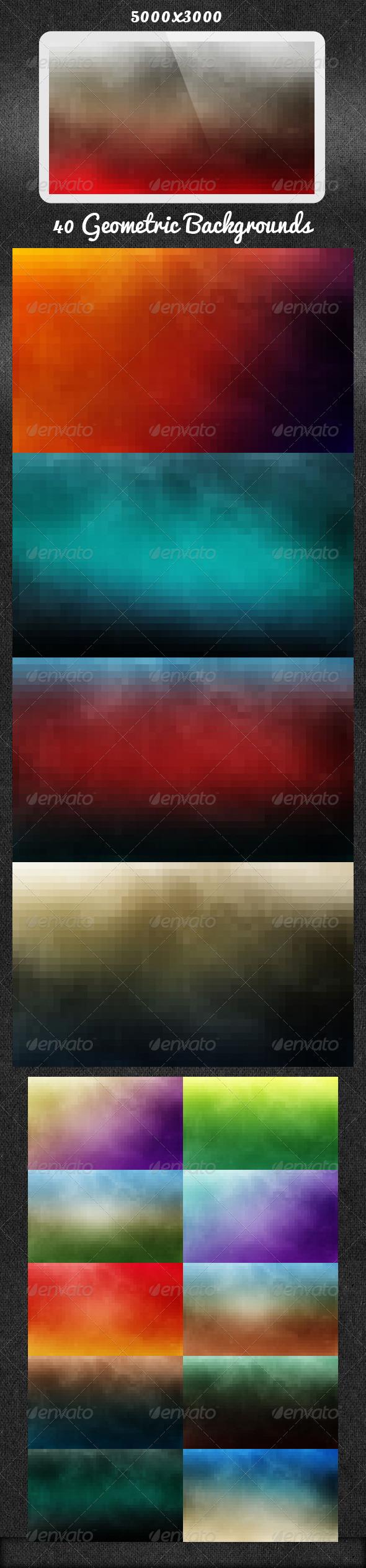 40 Geometric Backgrounds