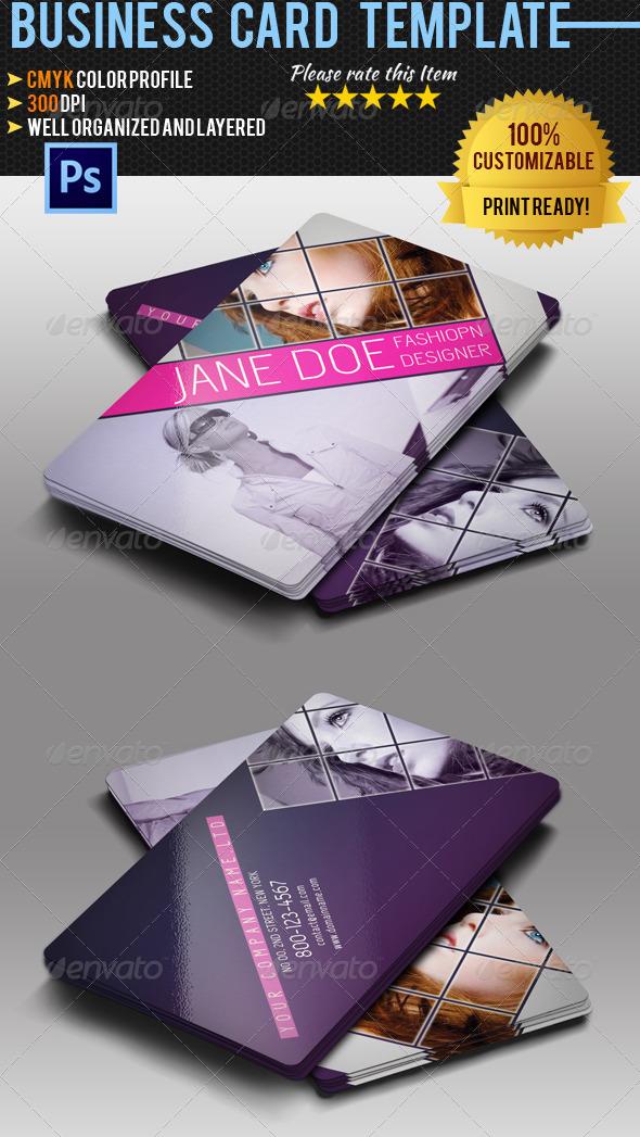GraphicRiver Fashion Business Card 07 5373142