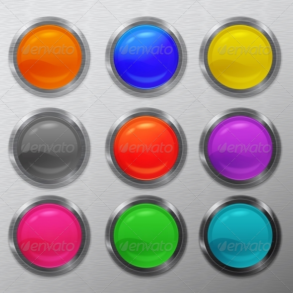 GraphicRiver Set Buttons 5373471
